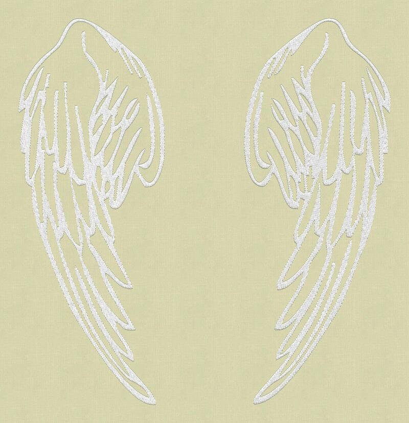 Вышивка ангел на крыльях